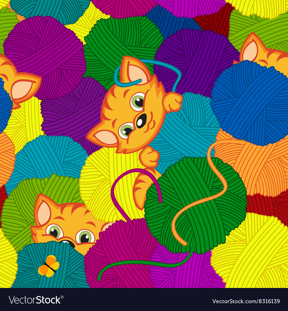 Seamless Tangled Yarn Vector Images 40