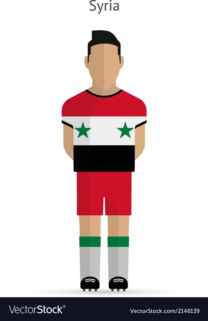 Syria football player Soccer uniform vector image