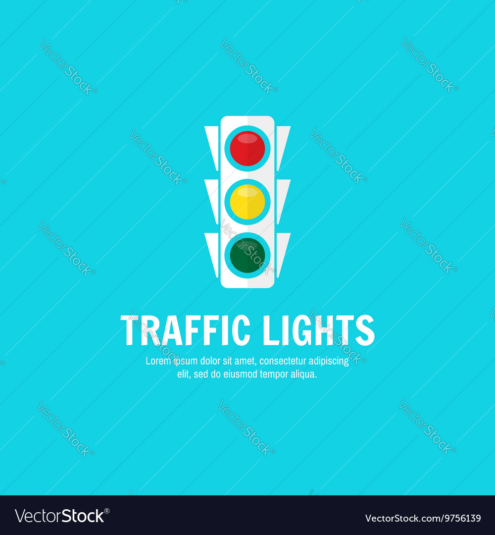 Traffic light background with place for your text