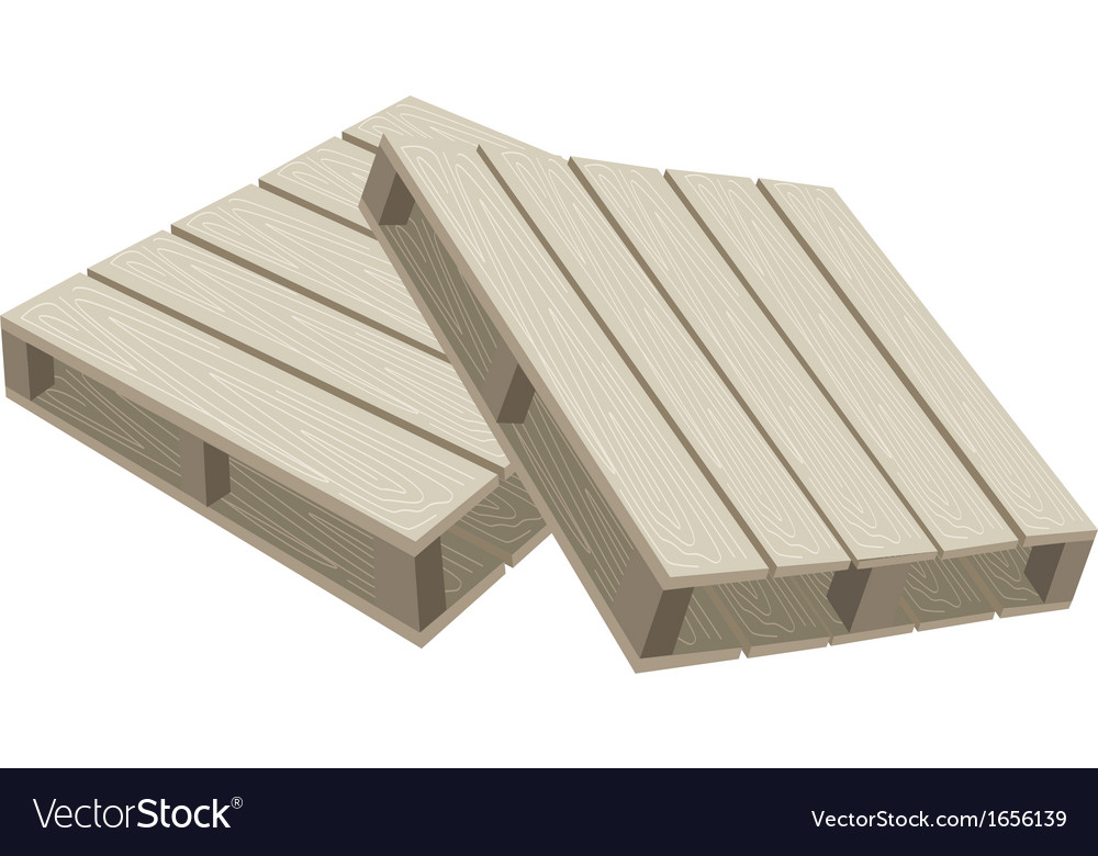 Two Wood Pallets On A White Background