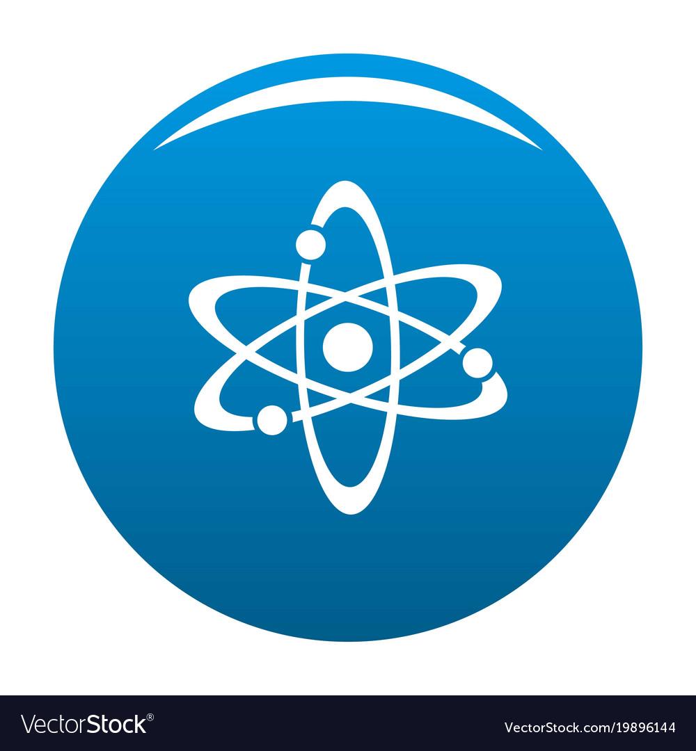 atom icon blue royalty free vector image vectorstock