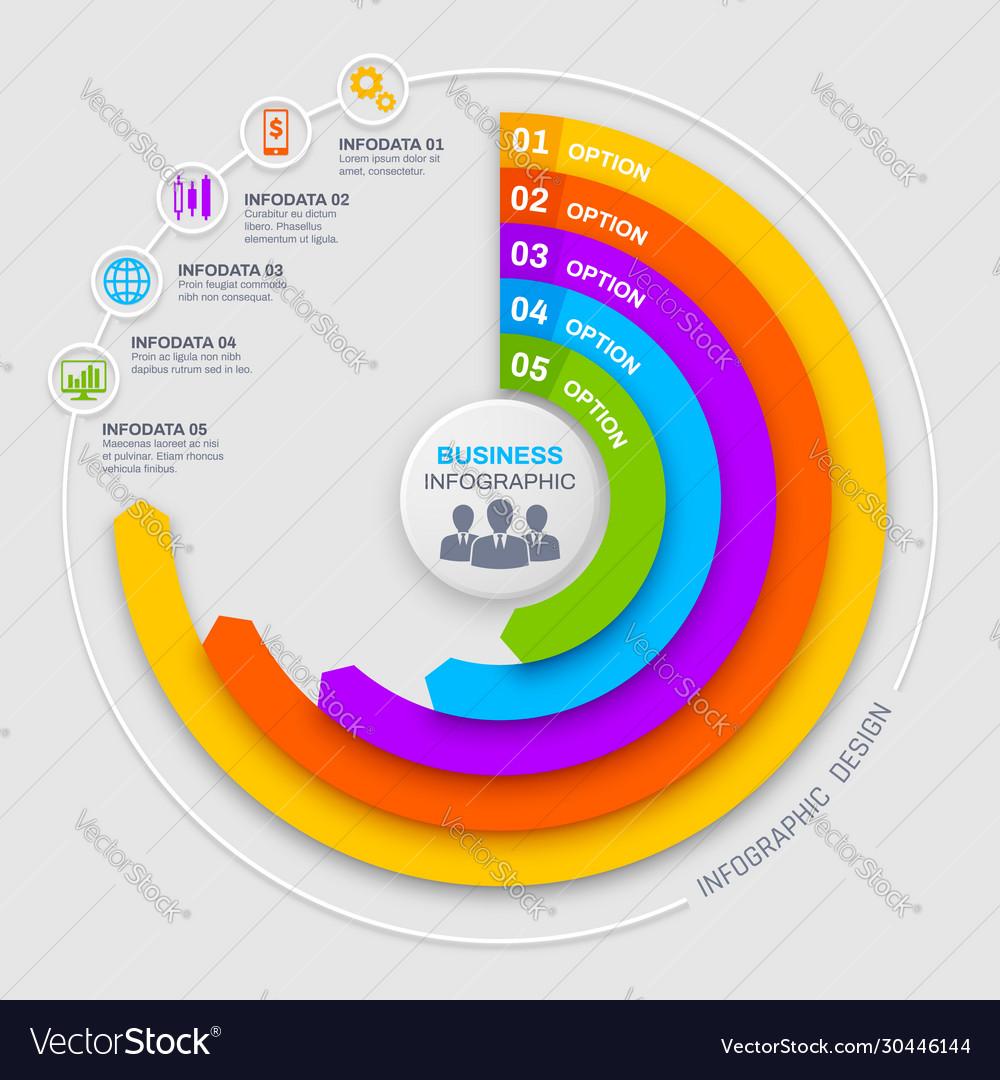 Business infographics round diagram