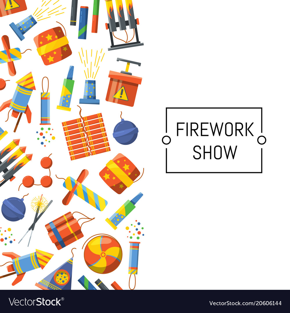 Cartoon pyrotechnics background