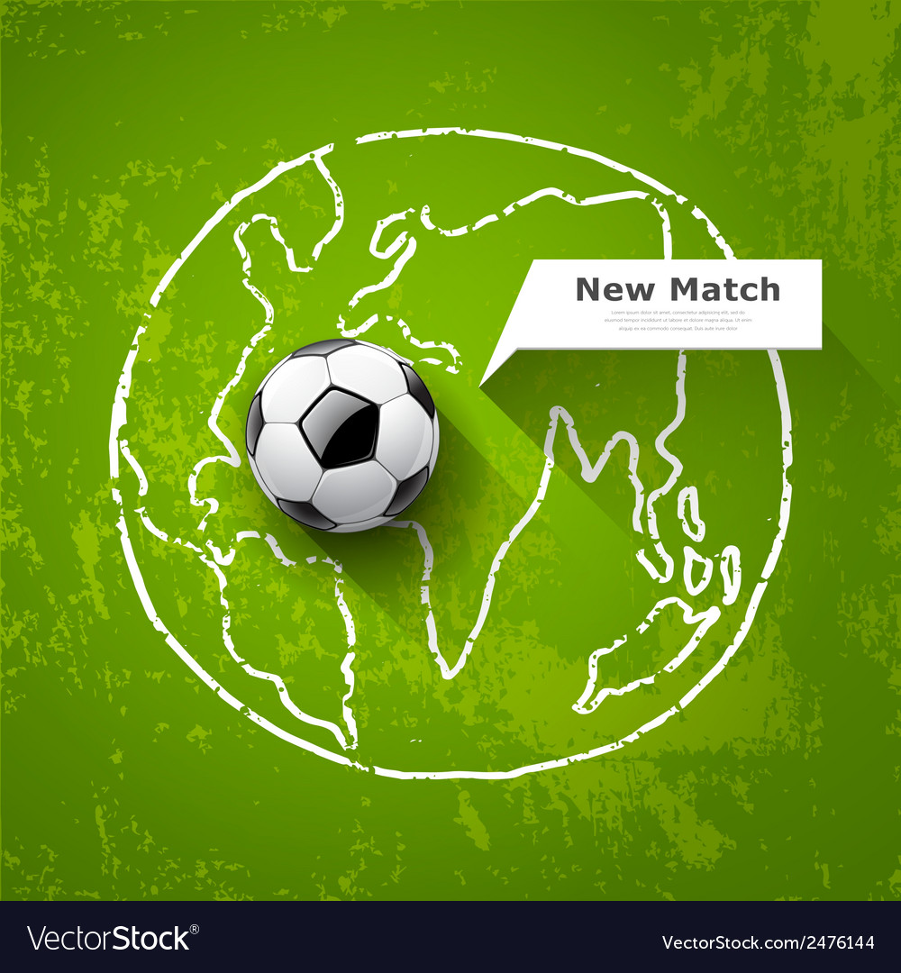 Soccer ball on map world design royalty free vector image soccer ball on map world design vector image gumiabroncs Gallery