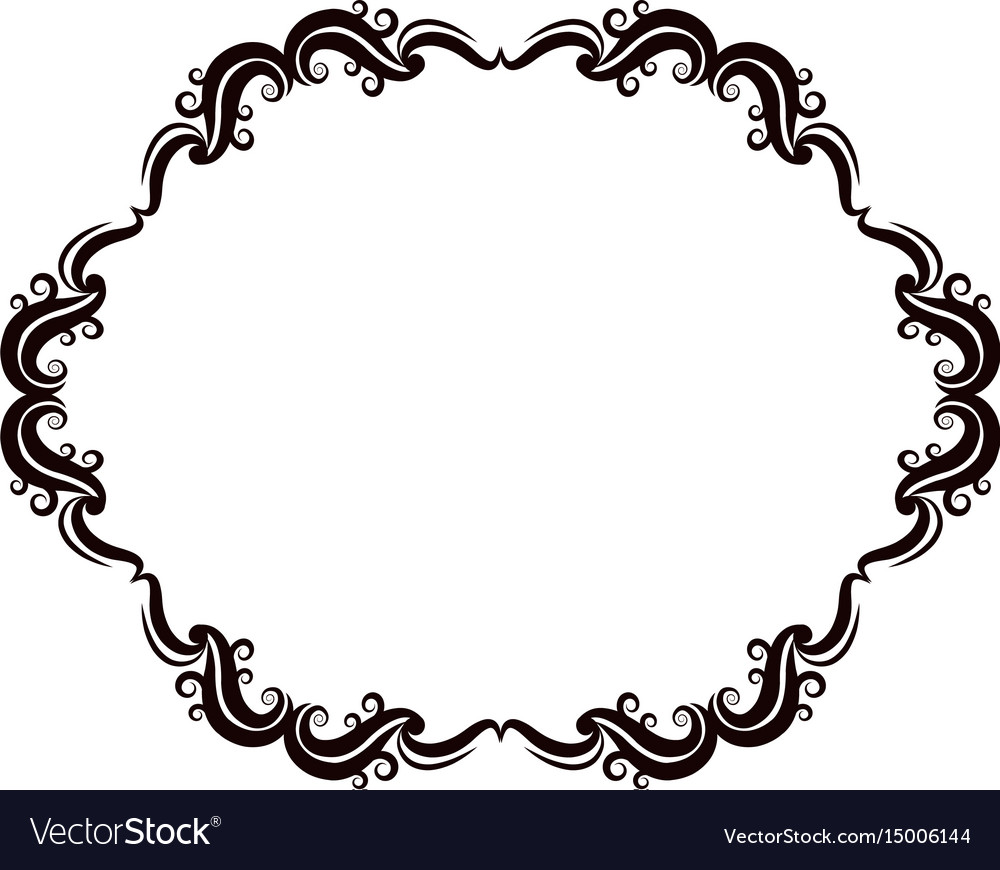 Vintage baroque frame scroll floral ornament