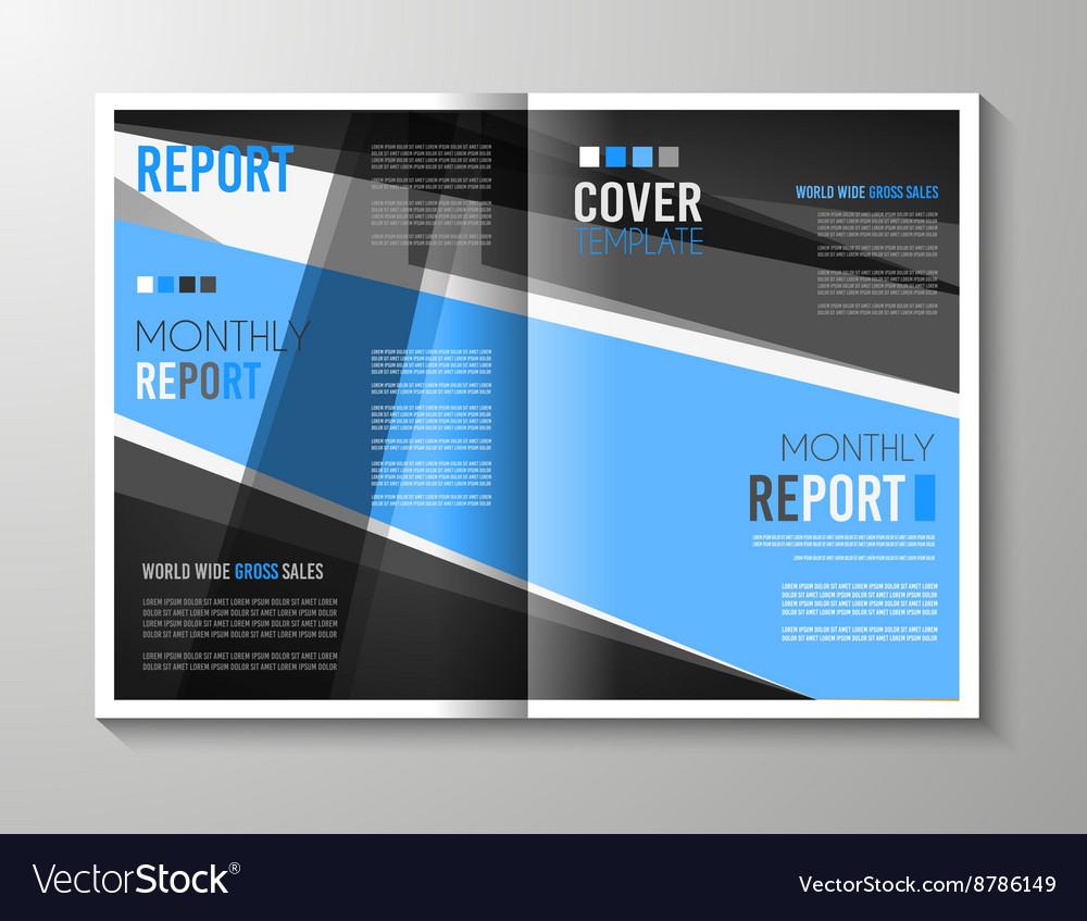 Brochure Template Flyer Design Or Depliant Cover Vector Image On Vectorstock