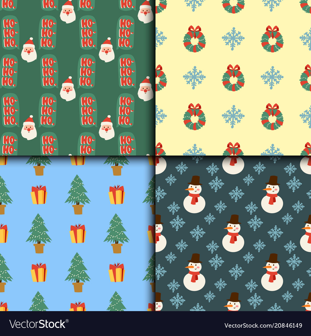 Christmas seamless pattern background for