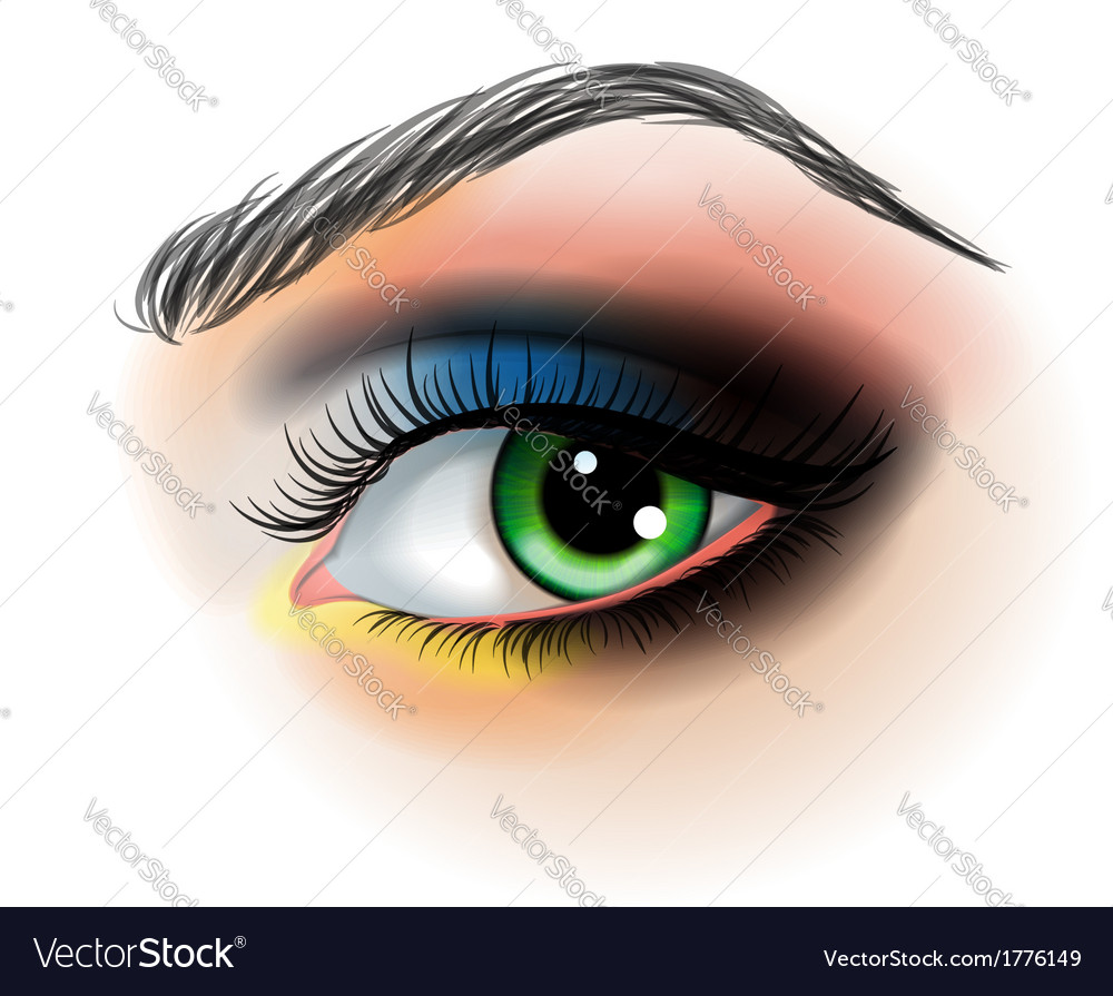 Eye Makeup Royalty Free Vector Image Vectorstock
