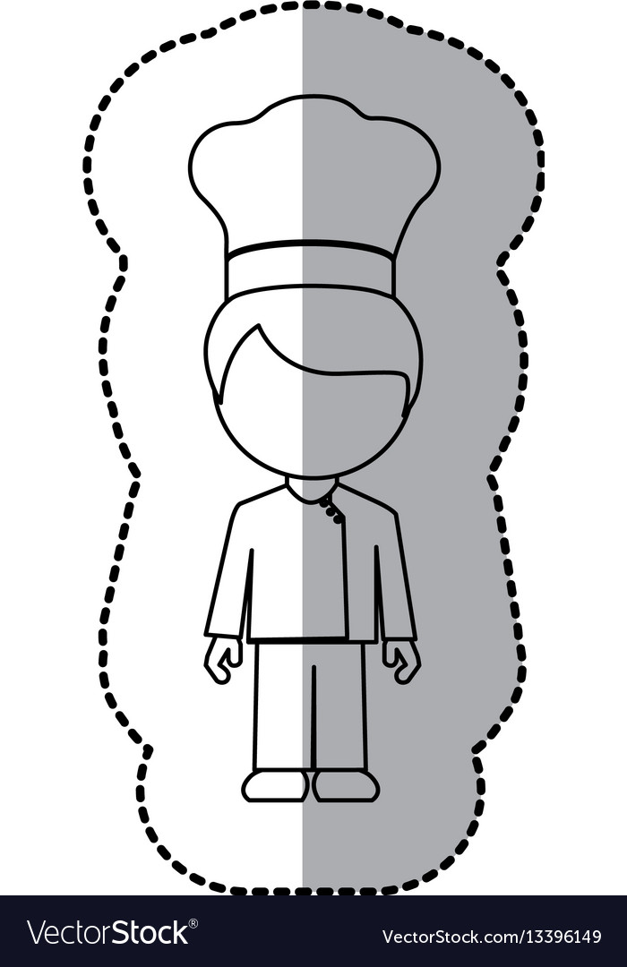 Figure man chef icon
