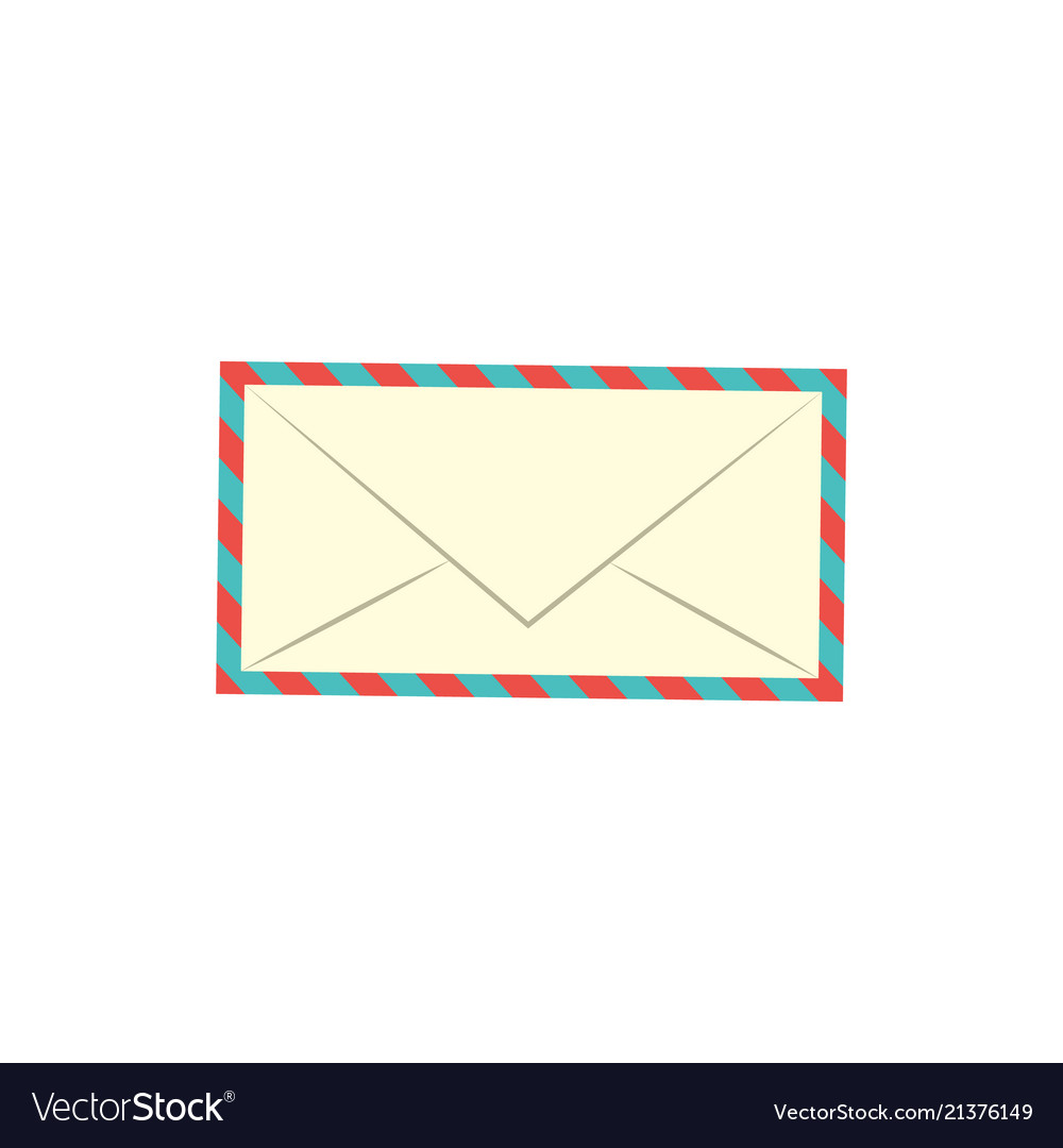 Flat postal mail envelope icon