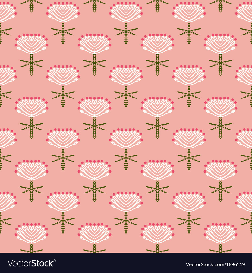 Floral pattern for fall fashion vector image