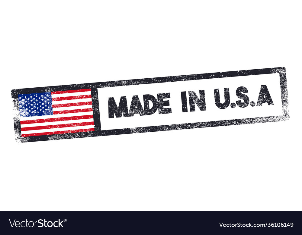 Grunge style made in usa stamp