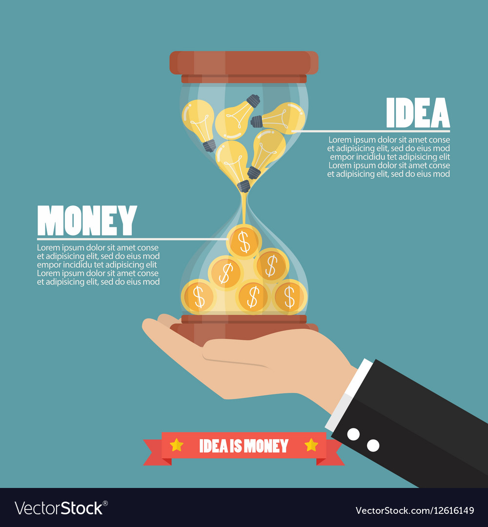Idea is money infographic Royalty Free Vector Image