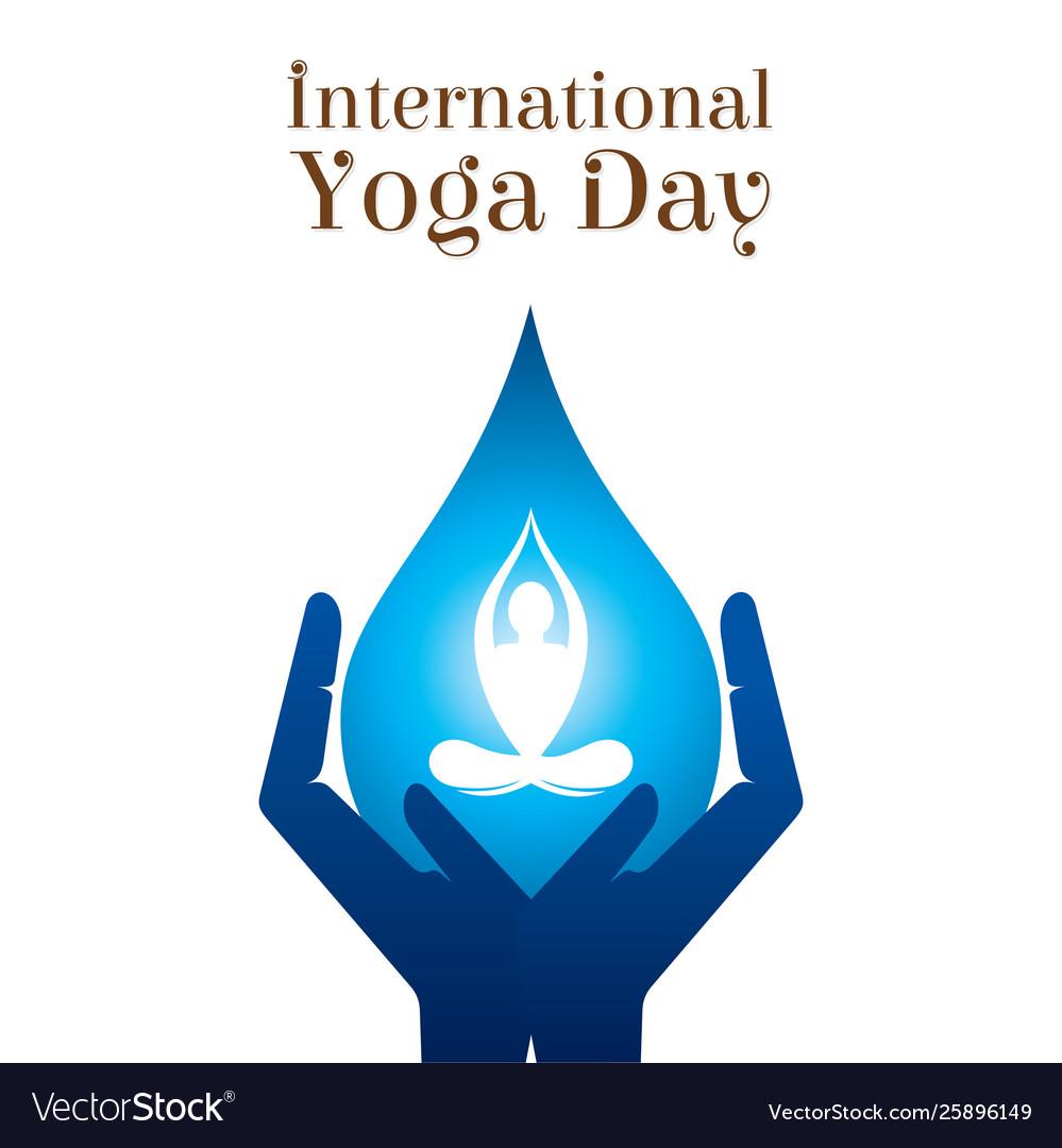 International Yoga Day Poster Design Royalty Free Vector