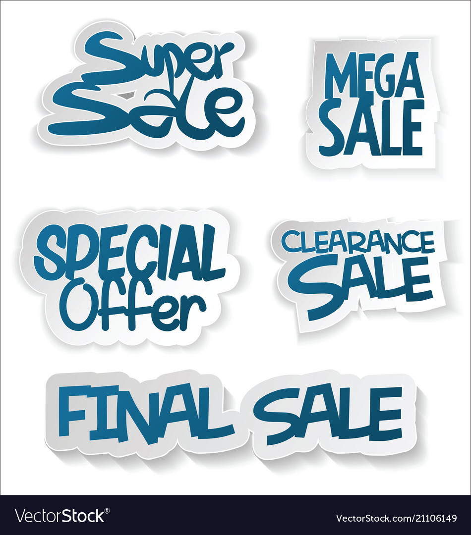 Modern sale sticker and tag collection