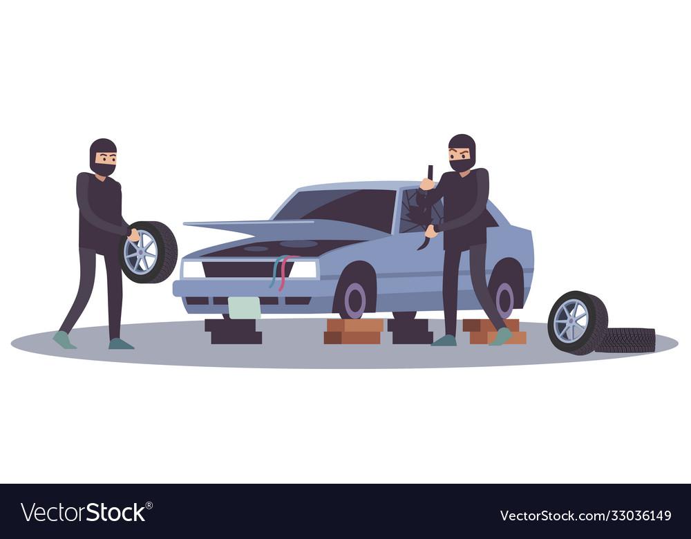 Robbery banditry looting thieves men take apart