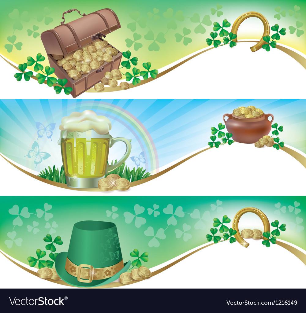 St Patricks Day horizontal banners