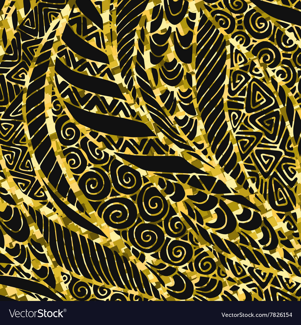 Abstract Golden floral background