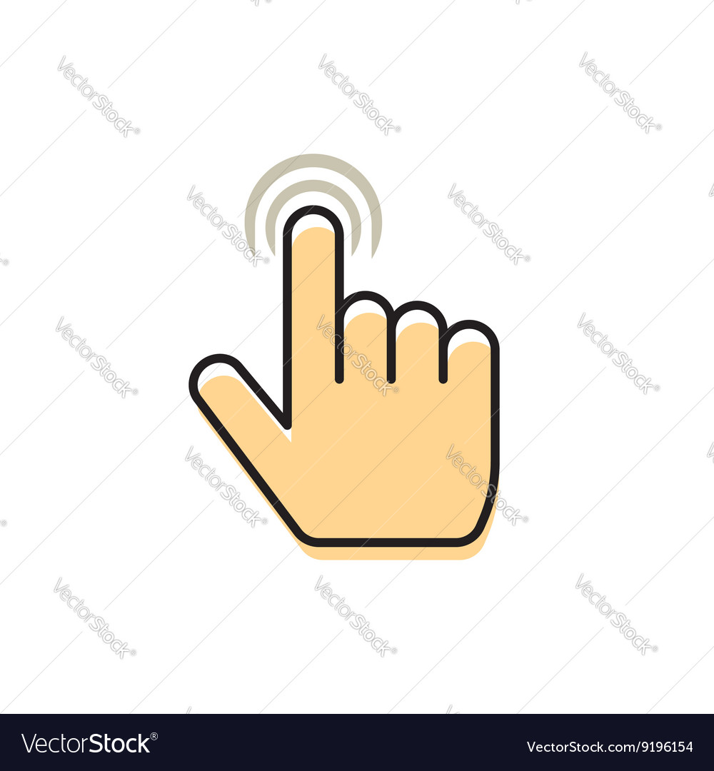 Hand pointer finger concept of multi touch vector image