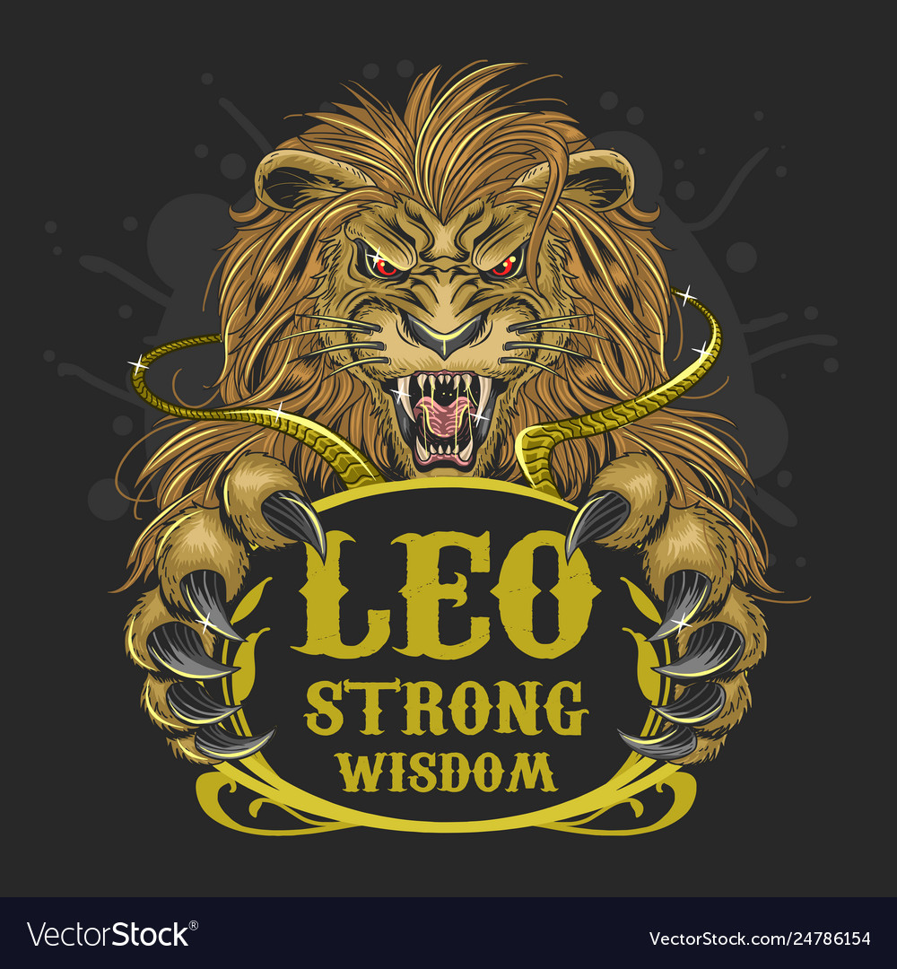 Leo lion zodiac element