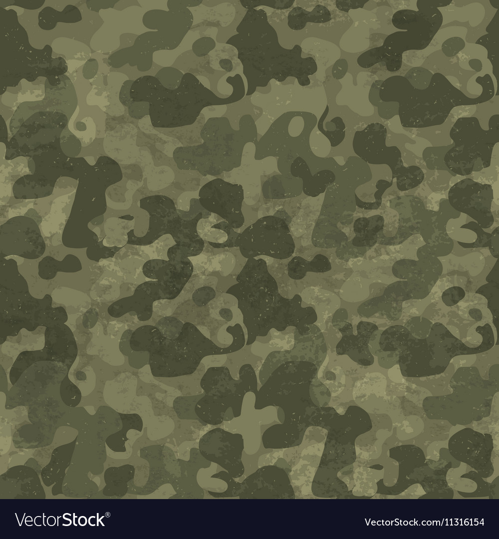 Military camouflage seamless pattern Grunge and