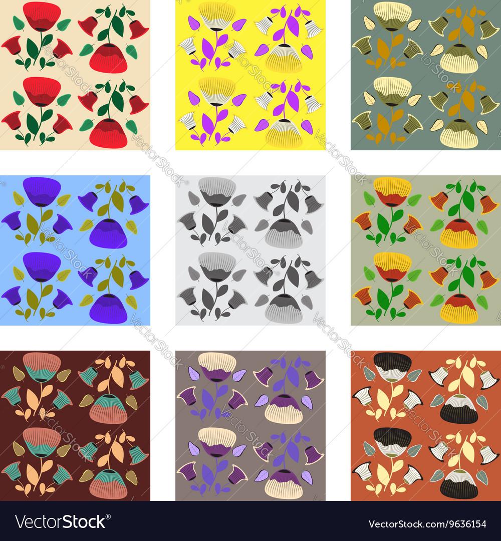 Nine patterns of poppy