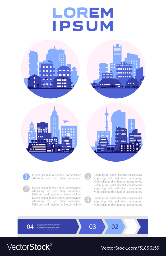 Abstract cityscapes infographics town city