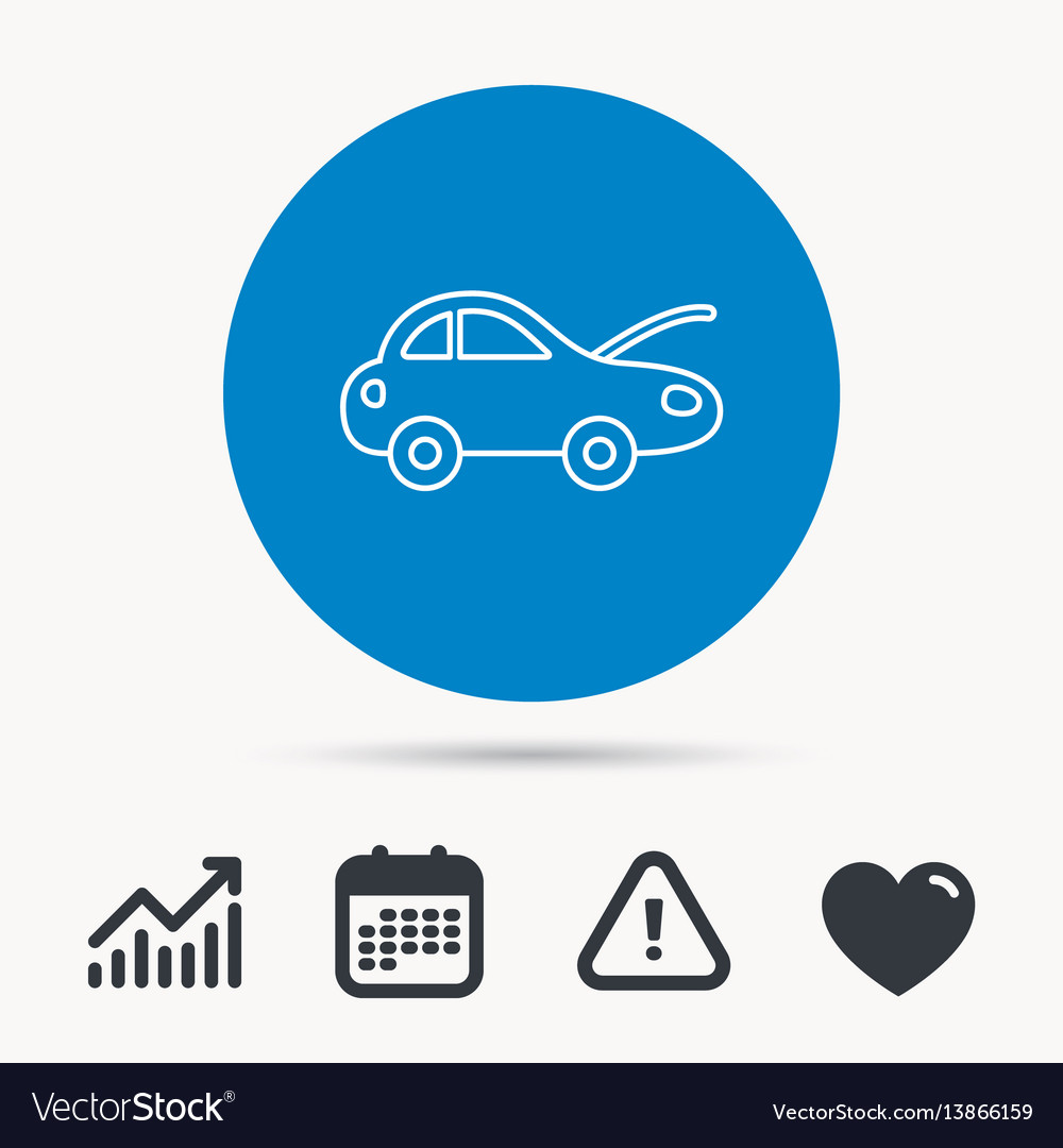 Car repair icon mechanic service sign