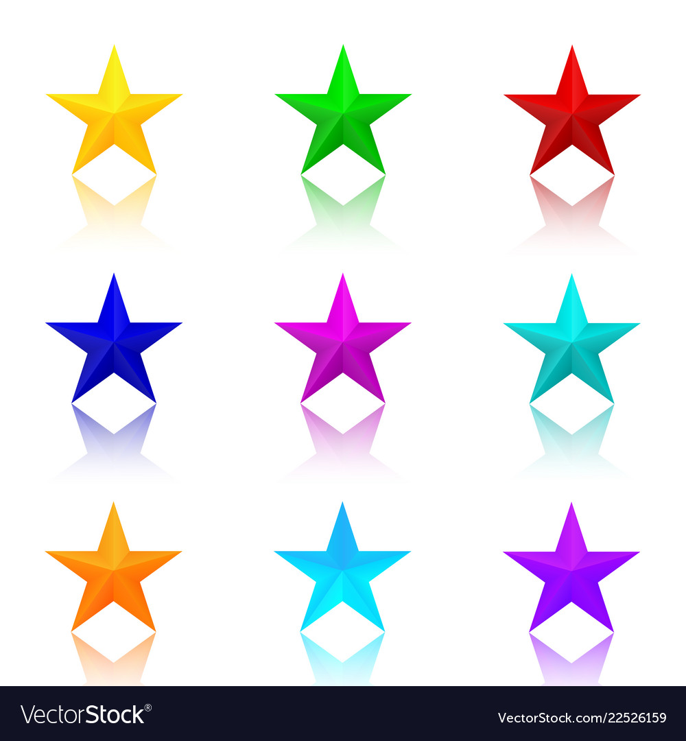 Colorful stars set