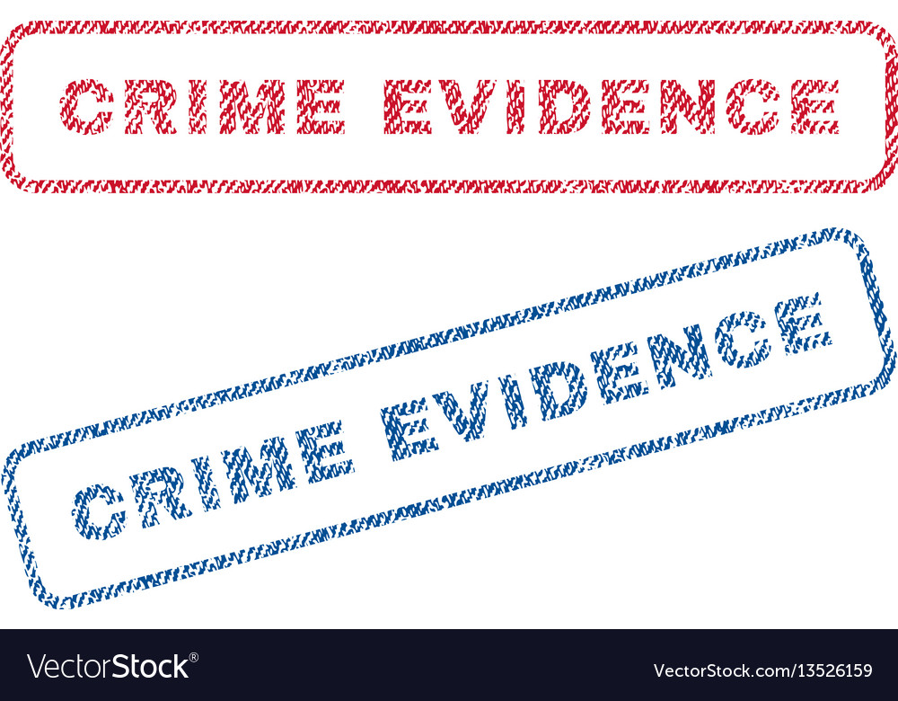 Crime evidence textile stamps