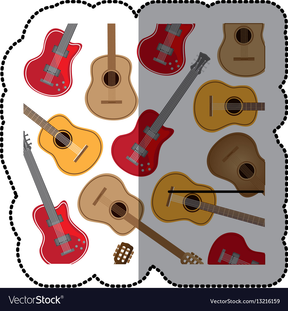 Guitar music icon image vector image
