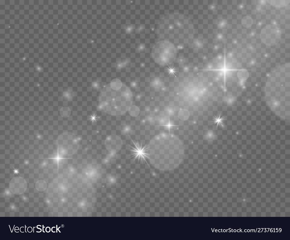 Light effect magic glowing stardust white