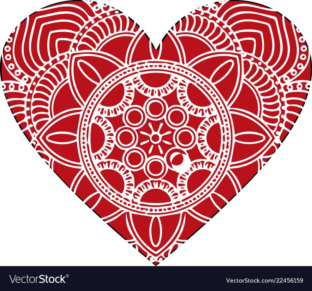 Ornate heart in victorian style elegant