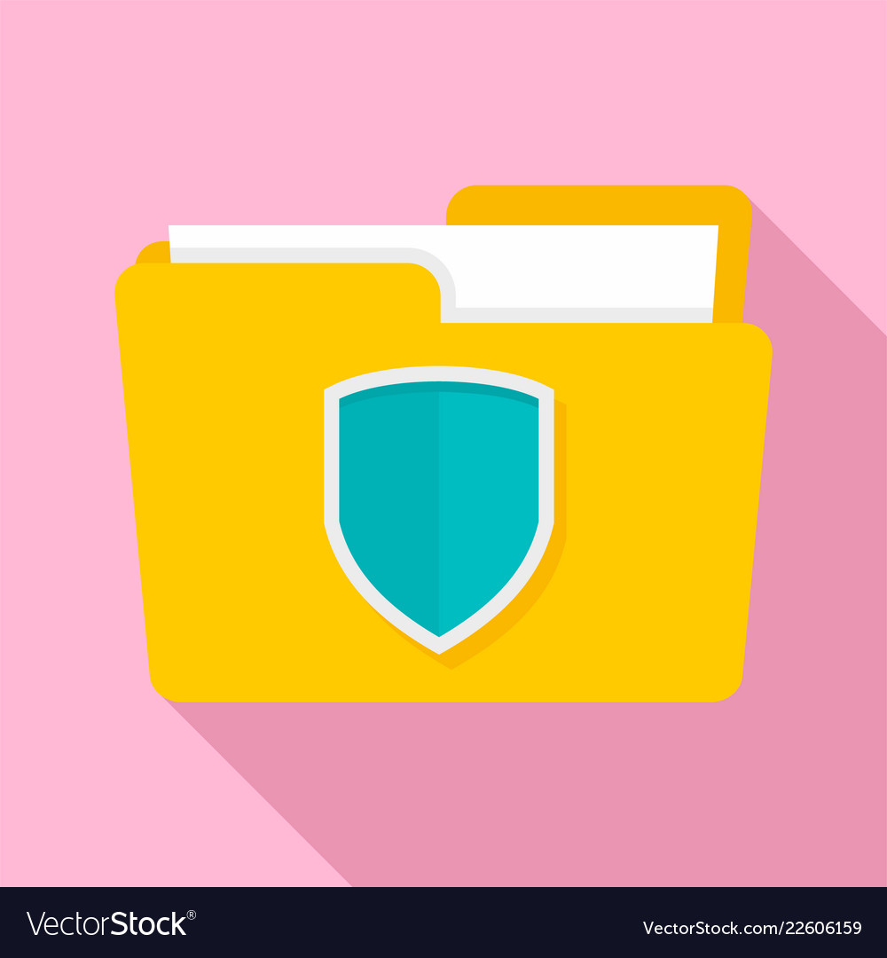 Protected folder icon flat style