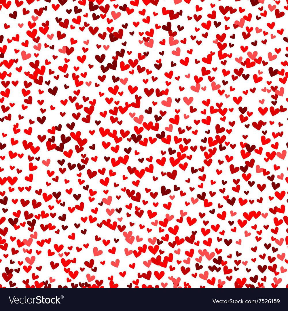 Romantic red heart pattern