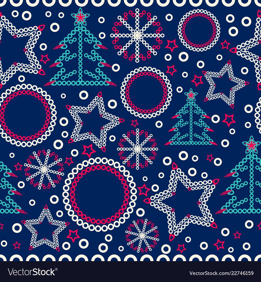 Seamless christmas ornamental decor pattern