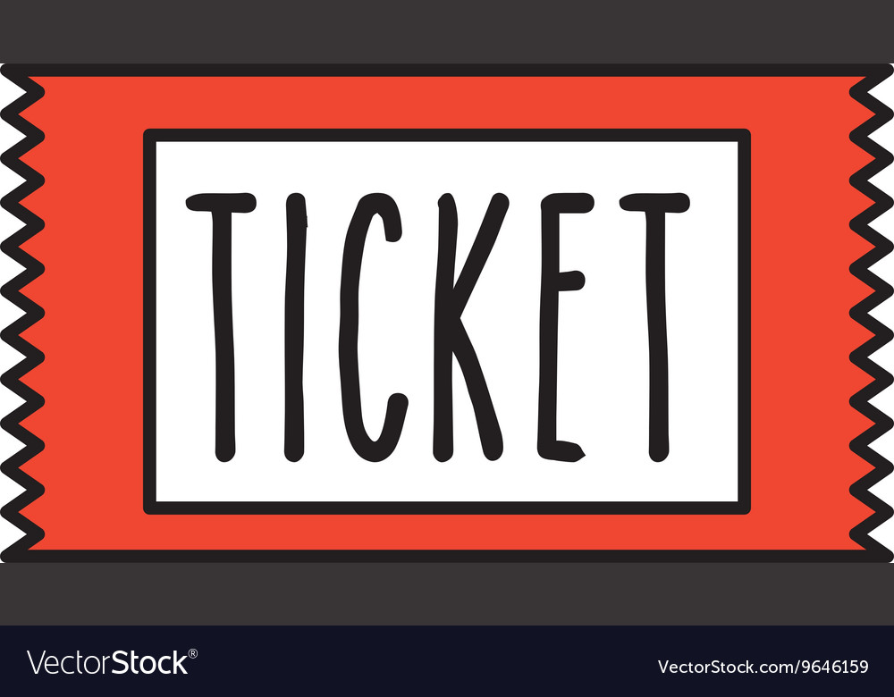 Ticket cinema isolated icon design