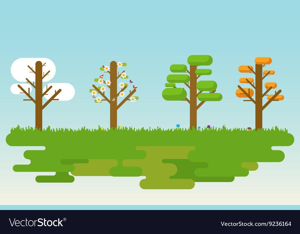 Flat four season tree