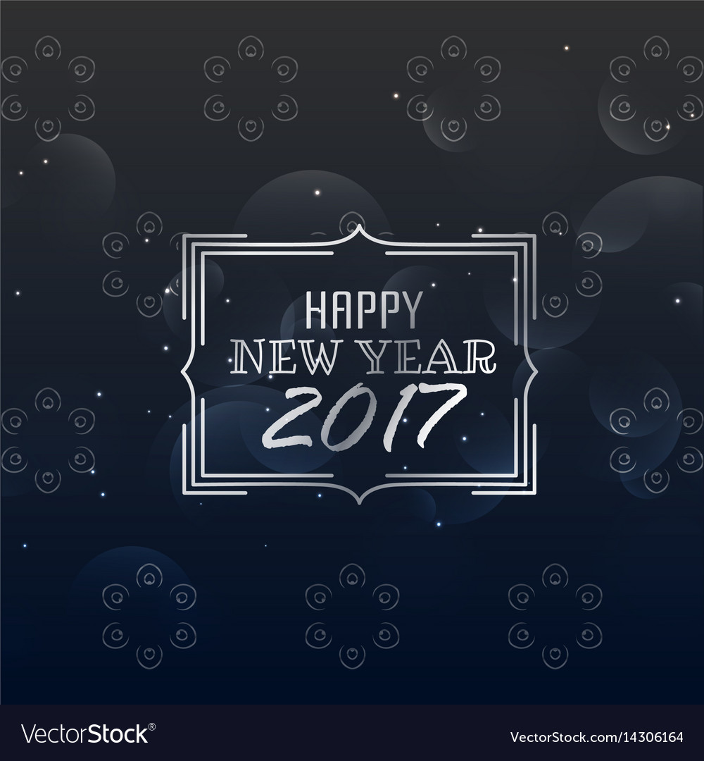 Happy New Year 2017 Greeting Card Layout Template Vector Image