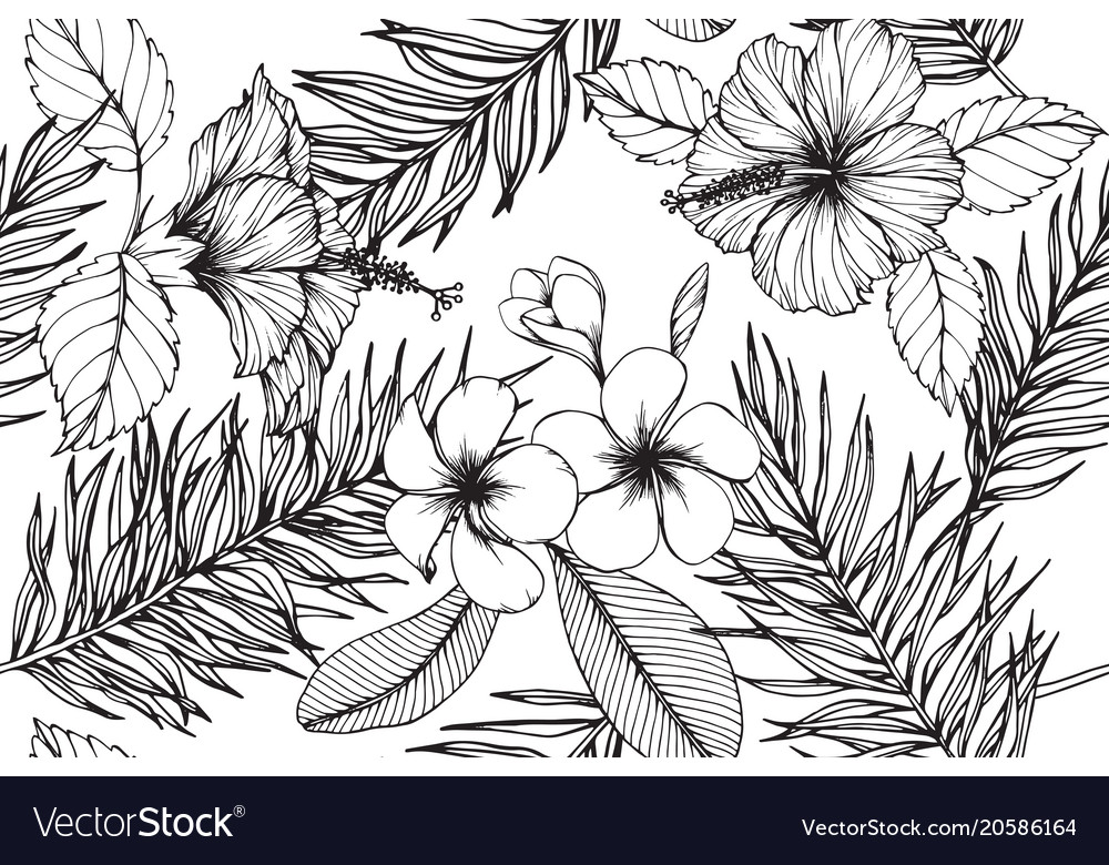 Hawaiian pattern seamless background
