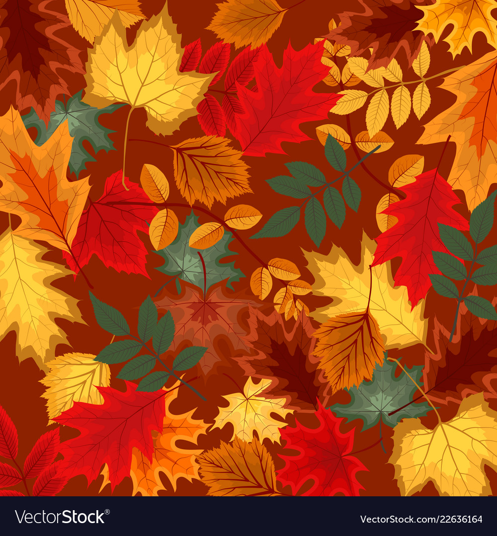 Naturalistic multicolored autumn leaves