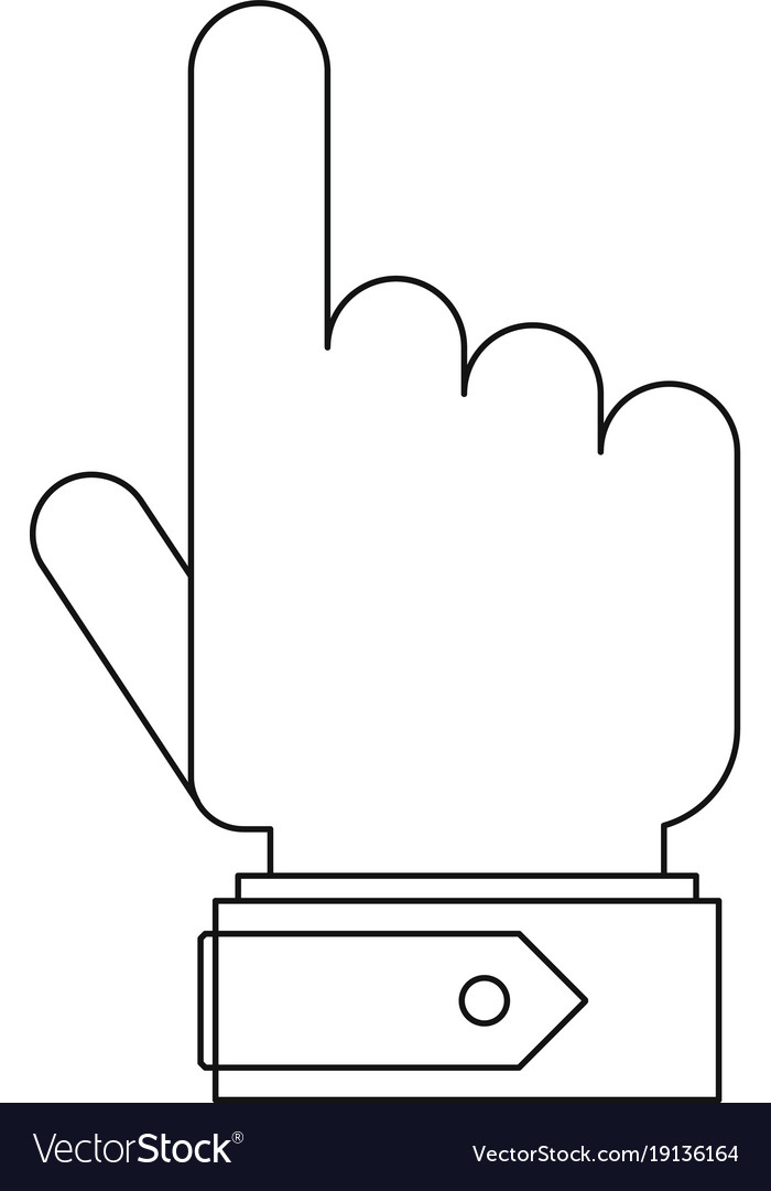 Pointing gesture icon outline style