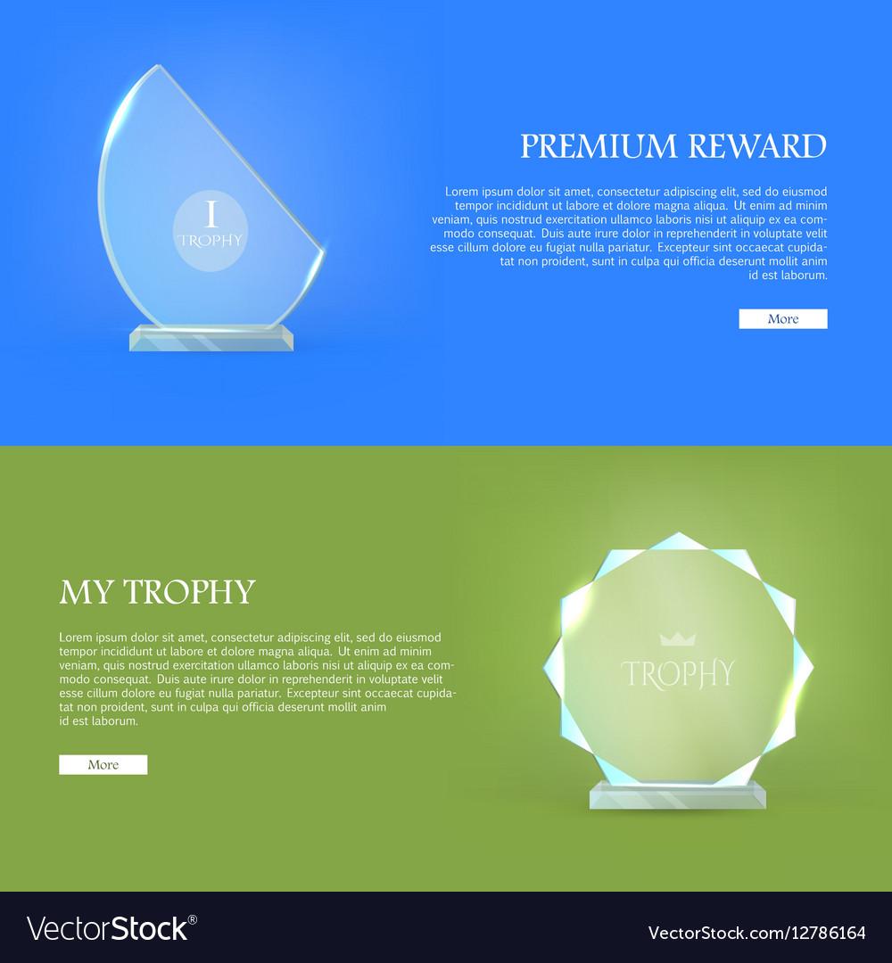 Premium Reward My Trophy Triumph Glass Award