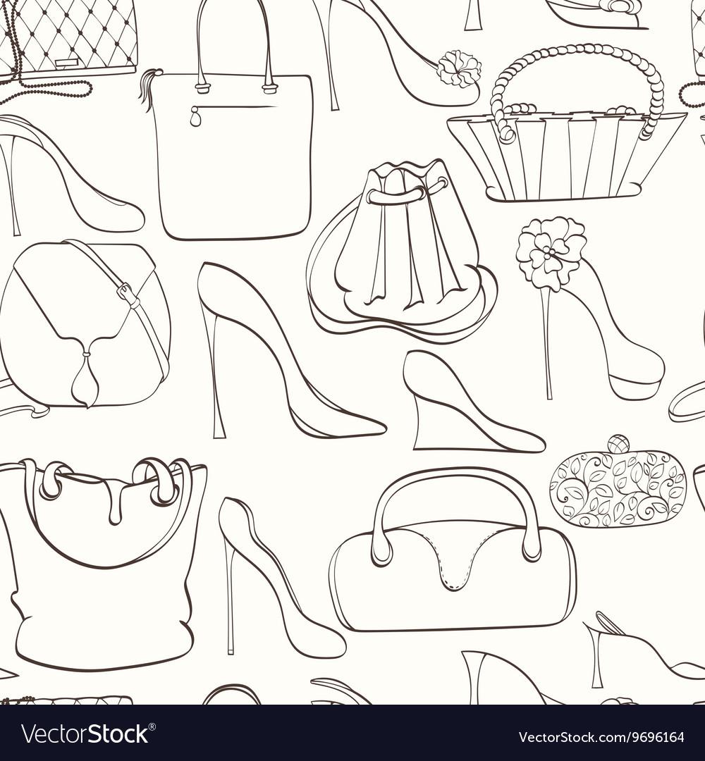 Seamless bag pattern