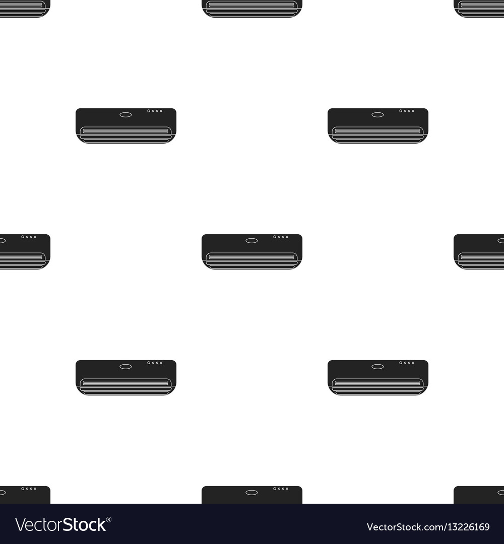 Air conditioner icon in black style isolated on