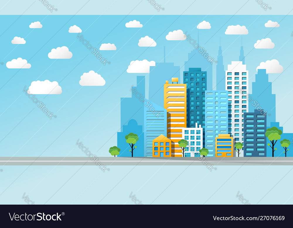 Colorful cityscape background
