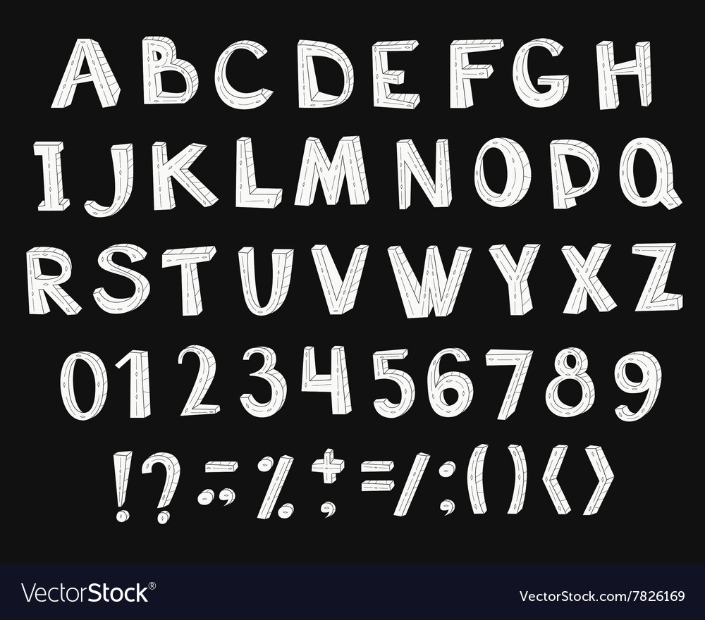 Creative high detail font vector image