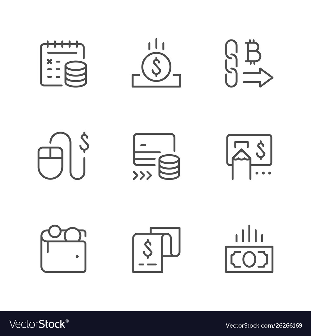 Set line icons payment