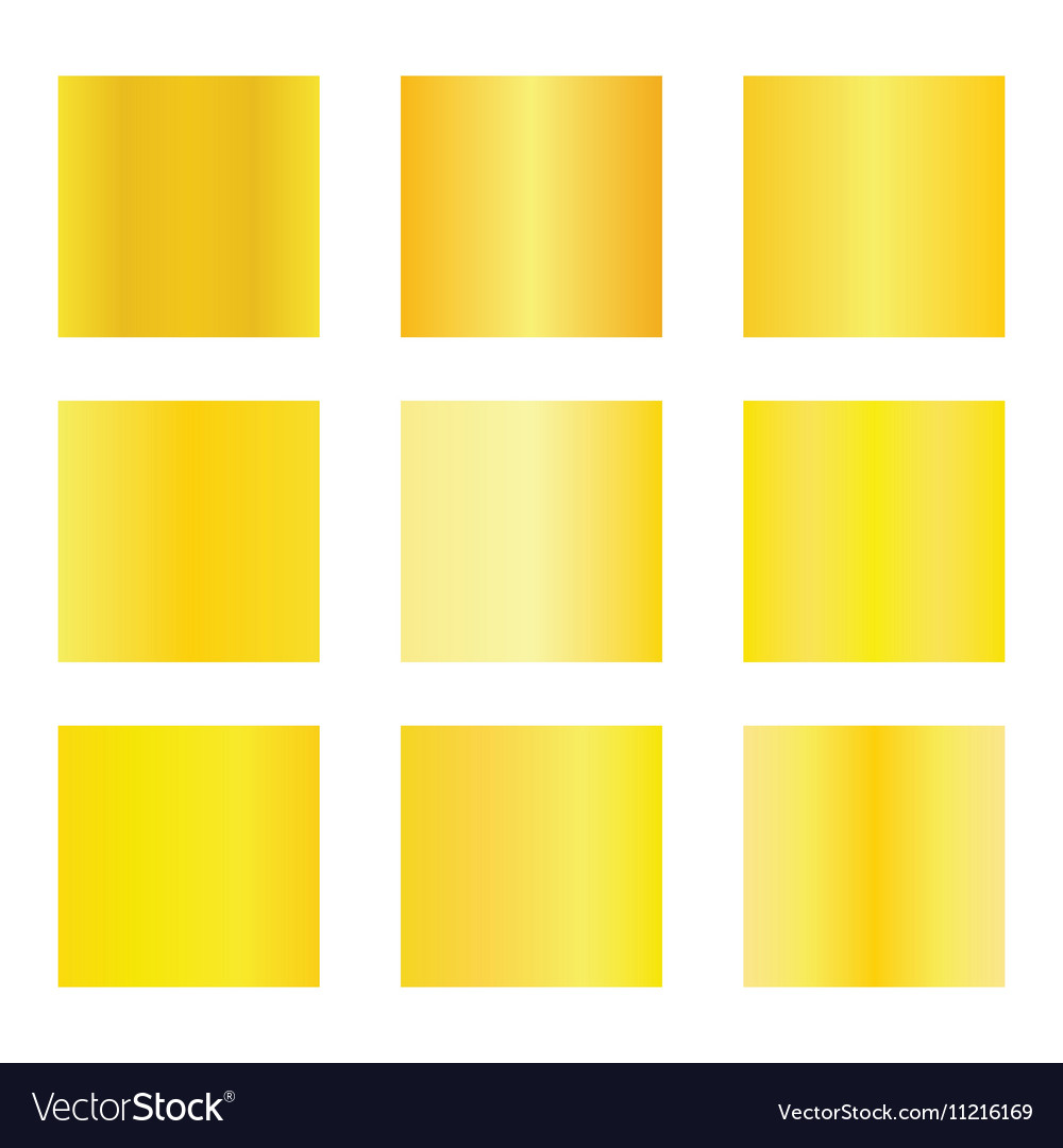 Set of gold gradients Golden backgrounds