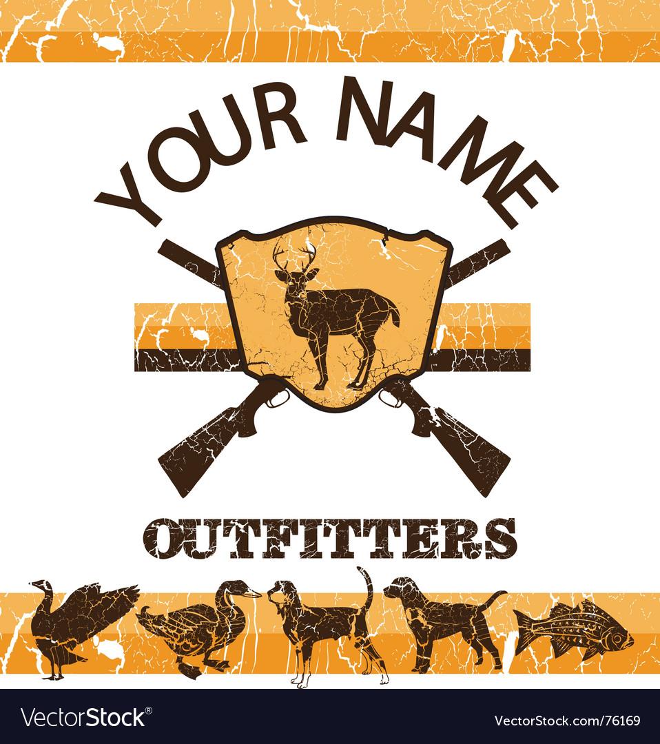 Vintage hunting sign vector image